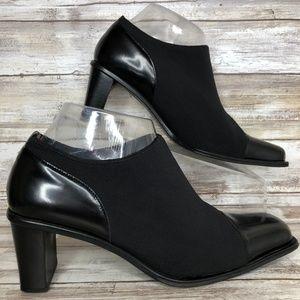 Gabor Trend 7M Black Microfiber Leather Booties
